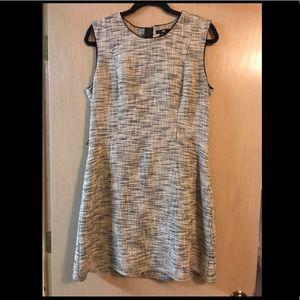 Woven grey dress